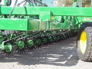 Aricks row cleaner installed no till farming