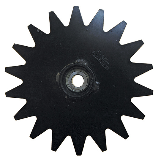 Thompson spoked closing wheel hub star