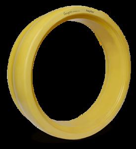 Polyflex gauge wheel yellow